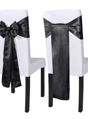 vidaXL Decoratieve stoel sjerp 25 stuks (zwart)