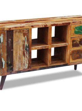vidaXL Dressoir massief gerecycled hout 150x40x86 cm