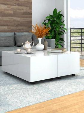 vidaXL Salontafel 100x100x35 cm hoogglans wit