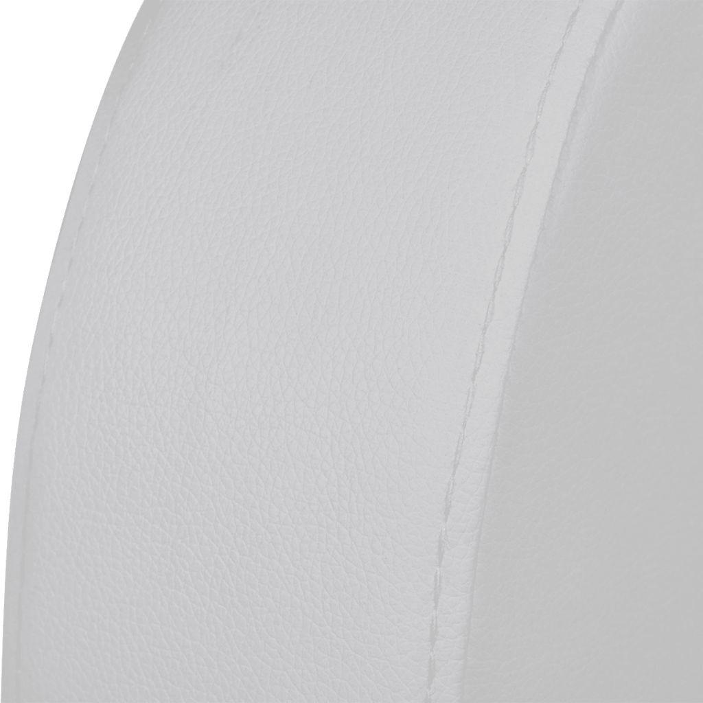 vidaXL LED Driedubbele Leunstoel gecapitonneerd 3-zits kunstleer wit