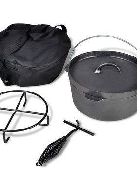 vidaXL Braadpan 4,2 L inclusief accessoires