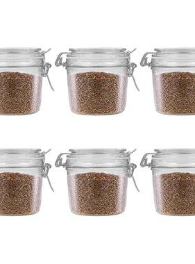 vidaXL Opbergpotten met klemsluiting 6 st 340 ml