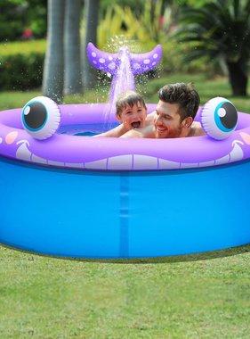 Jilong Opblaasbaar zwembad walvisvorm + sproeifunctie 175x62 cm 1143 L