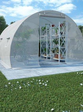 vidaXL Kas met stalen fundering 9 m² 300x300x200 cm
