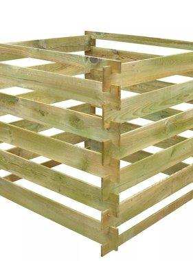 vidaXL Compostbak gelat vierkant 0,54 m³ FSC hout