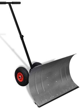 vidaXL Handmatige sneeuwschuiver met wielen