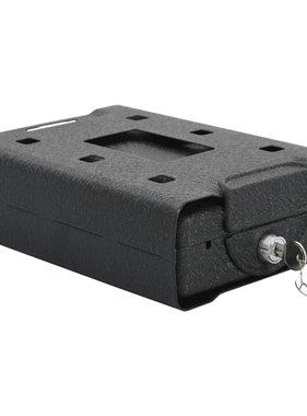vidaXL Autokluis 21,8x16x7 cm staal zwart
