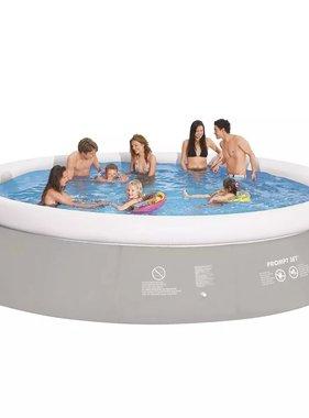 Jilong Zwembad rond opblaasbaar 450x122 cm grijs