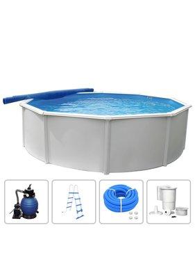 KWAD Zwembadset Steely Deluxe rond 3,6x1,2 m