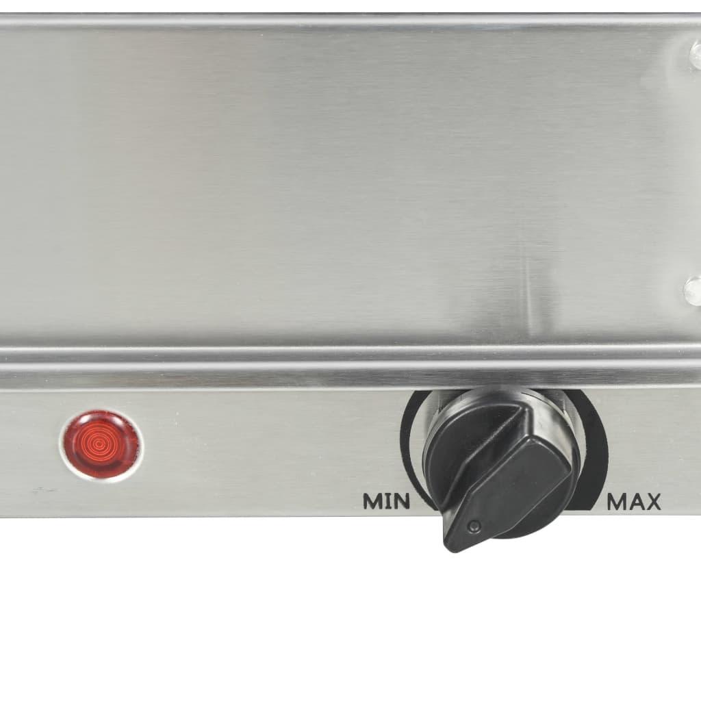 vidaXL Buffetwarmer 200 W 2x1,5 L roestvrij staal