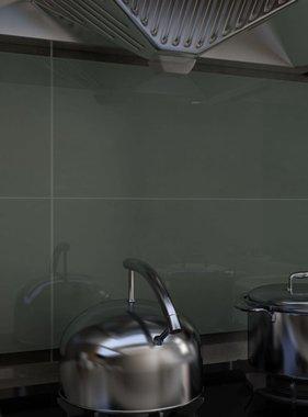 vidaXL Spatscherm keuken 90x60 cm gehard glas wit