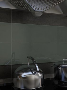 vidaXL Spatscherm keuken 90x40 cm gehard glas wit