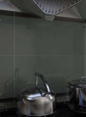 vidaXL Spatscherm keuken 80x60 cm gehard glas wit