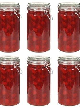 vidaXL Opbergpotten met klemsluiting 6 st 1000 ml
