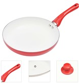vidaXL 5-delige Koekenpannenset aluminium rood