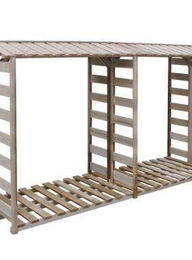 vidaXL Haardhout opslag 300x100x176 cm FSC geïmpregneerd grenenhout