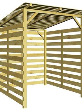 vidaXL Tuinschuur voor brandhout FSC geïmpregneerd grenenhout