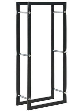 vidaXL Haardhoutrek 44x20x100 cm staal zwart
