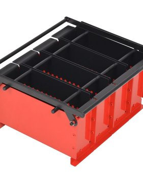 vidaXL Brikettenpers voor papier 38x31x18 cm staal zwart en rood
