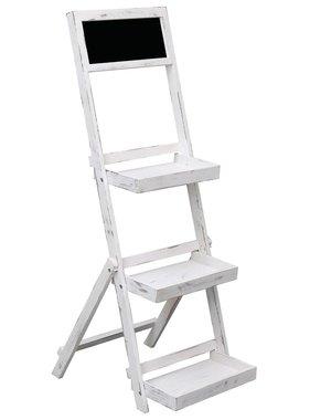 vidaXL Krijtbord op standaard 42x40x120 cm hout wit