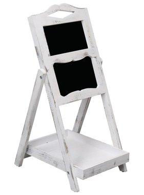 vidaXL Krijtbord op standaard 33x39x75 cm hout wit
