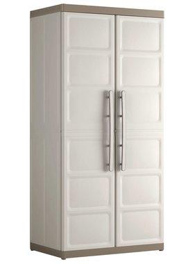 Keter Keter Hoge kast Excellence XL 89x54x182 cm beige en taupe