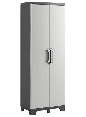 Keter Keter Hoge kast Gear 68x39x182 cm zwart en grijs