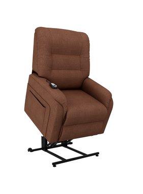 vidaXL Fauteuil elektrisch sta-op-stoel stof bruin