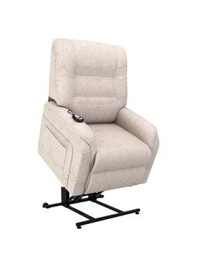 vidaXL Fauteuil elektrisch sta-op-stoel stof crème