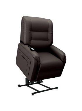 vidaXL Fauteuil elektrisch sta-op-stoel kunstleer bruin