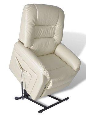 vidaXL Fauteuil elektrisch sta-op-stoel kunstleer beige