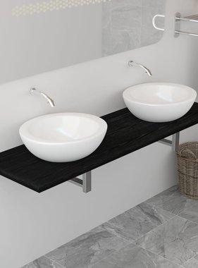 vidaXL Badkamer wandschap voor wastafel 160x40x16,3 cm zwart