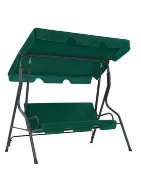 vidaXL Tuinschommelstoel 170x110x153 cm stof groen