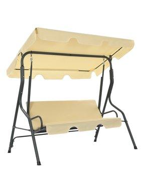 vidaXL Tuinschommelstoel 170x110x153 cm crèmewit
