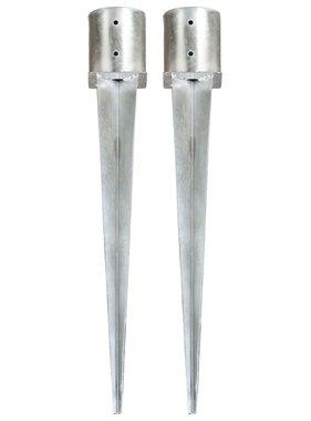 vidaXL Grondpinnen 2 st 12x91 cm gegalvaniseerd staal zilverkleurig