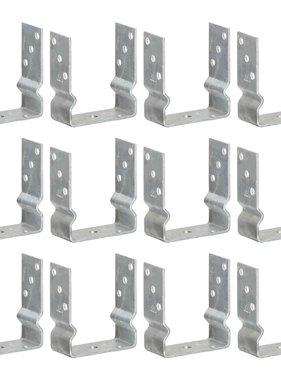 vidaXL Grondankers 12 st 12x6x15 cm gegalvaniseerd staal zilverkleurig