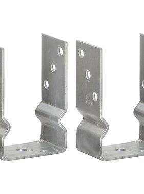 vidaXL Grondankers 2 st 9x6x15 cm gegalvaniseerd staal zilverkleurig