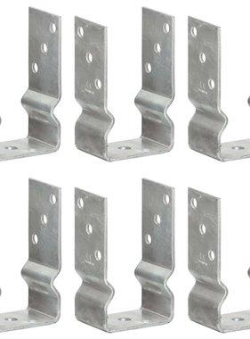vidaXL Grondankers 6 st 8x6x15 cm gegalvaniseerd staal zilverkleurig