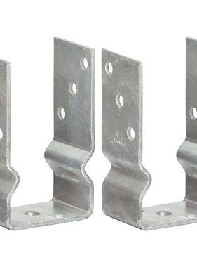 vidaXL Grondankers 2 st 8x6x15 cm gegalvaniseerd staal zilverkleurig
