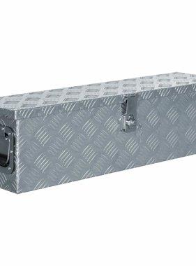 vidaXL Doos 80,5x22x22 cm aluminium zilverkleurig