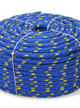 vidaXL Boot touw 16 mm 250 m polypropyleen blauw
