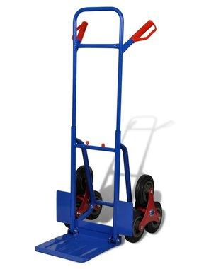 vidaXL Steekwagen inklapbaar met 6 wielen blauw