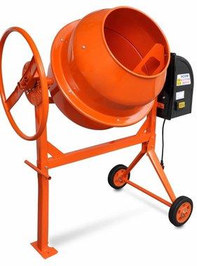 vidaXL Betonmolen oranje staal 140 L 650 W