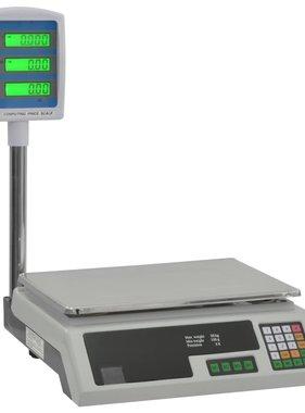 vidaXL Pakketweegschaal met LCD elektrisch 30 kg