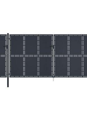 vidaXL Poort 5x2,25 m metaal antraciet