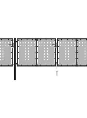 vidaXL Poort 400x75 cm staal zwart