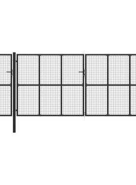 vidaXL Poort 500x200 cm staal antraciet