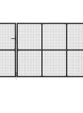 vidaXL Poort 350x175 cm staal antraciet