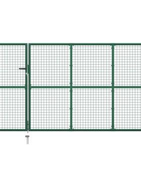 vidaXL Poort 350x150 cm staal groen