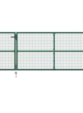 vidaXL Poort 350x125 cm staal groen